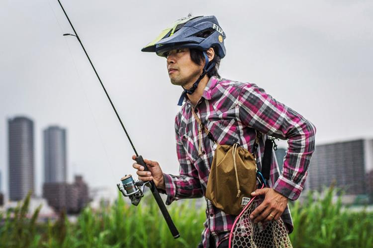多摩川河原 croMOZU275 朝活BIKE&FISH FULLCLIP SHIBORI シボリ