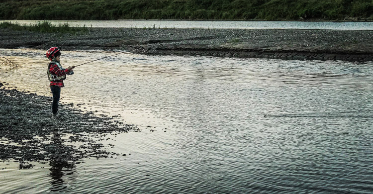 BIKE&FISH ナマズを狙う叶大 多摩川