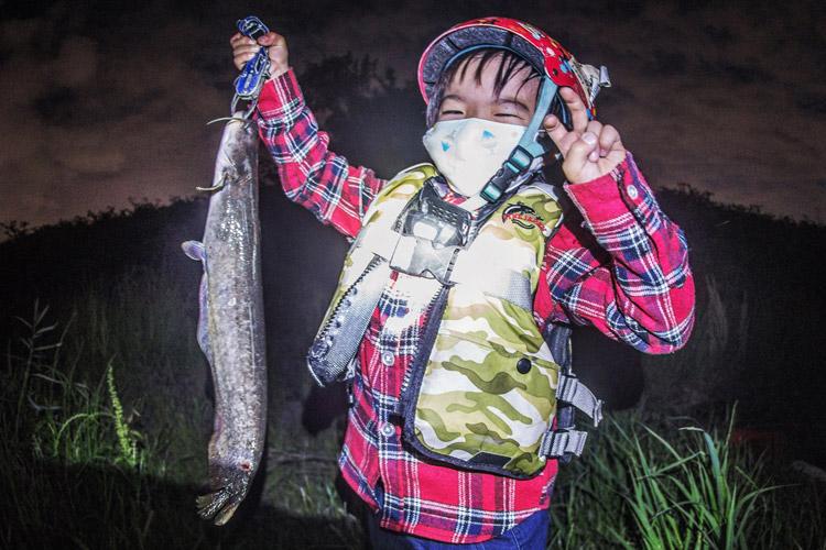 BIKE&FISH ナマズを釣った叶大 多摩川