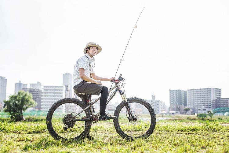 多摩川河原 croMOZU275 朝活BIKE&FISH FULLCLIP SHIBORI シボリ ラッシュトレンカ ウォーターシューズ