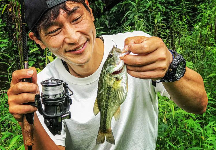 朝活FISH 藤本さん 野池 ブラックバス釣り