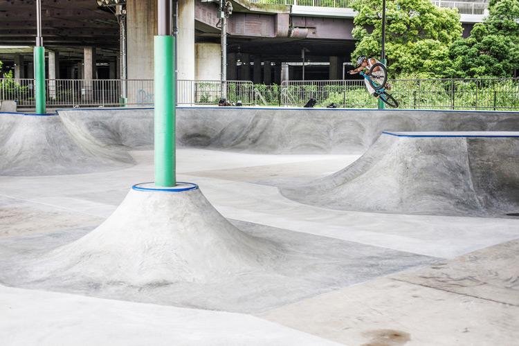 リニューアルした新横浜スケートパーク YAMATO SHAKA26 エアターンインバート