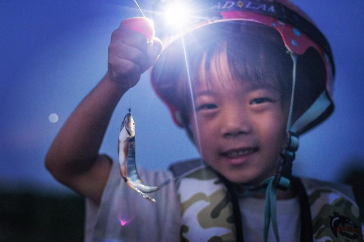 多摩川 毛鉤でオイカワを釣る叶大