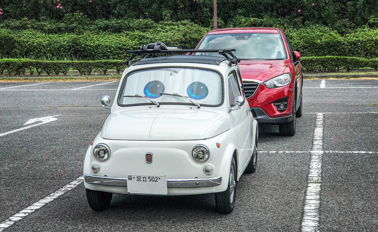 幕張海浜公園 AKIRA君 FIAT500 MAZDA CX-5