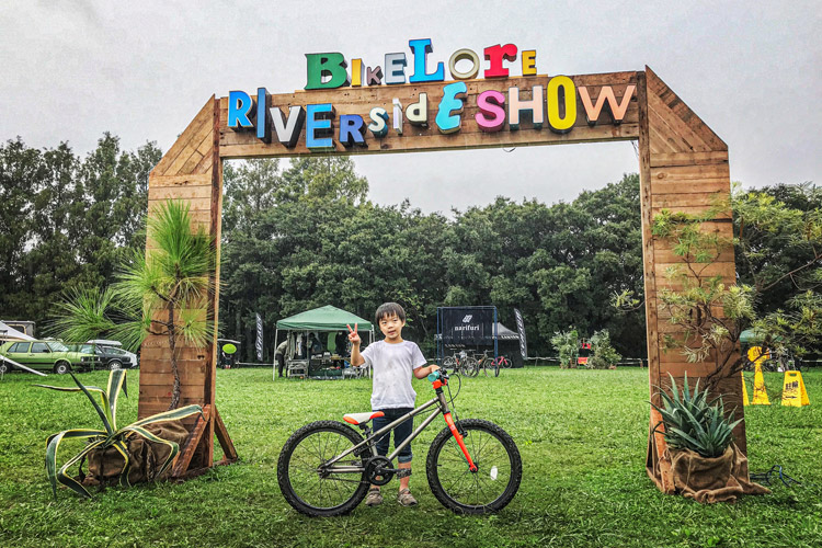 秋ヶ瀬の森バイクロア リバーサイドショー TUBAGRA バニーホップ ジャンプスクール kidsMOZU 叶大