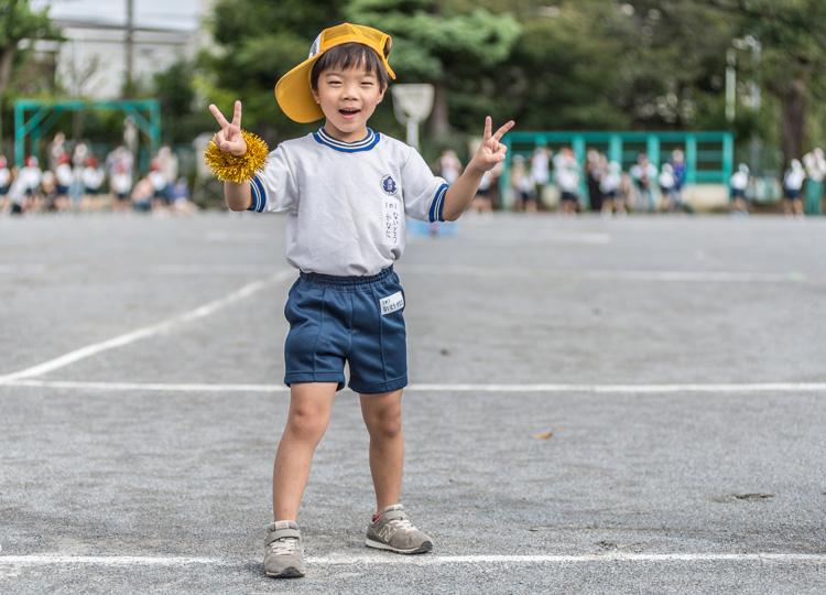 叶大 小学校1年生の運動会