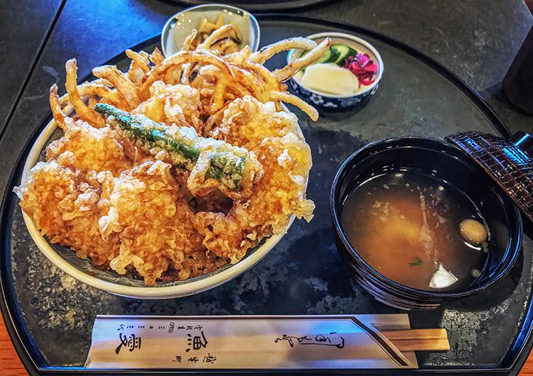 魚愛 越生 天丼 ズ丼