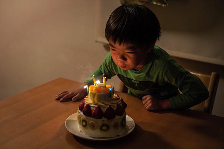 叶大 7歳 誕生日 バースディケーキ