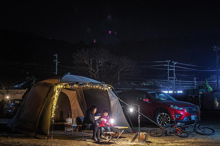 人魚の湯 オートキャンプ場 croMOZU275 koMOZU