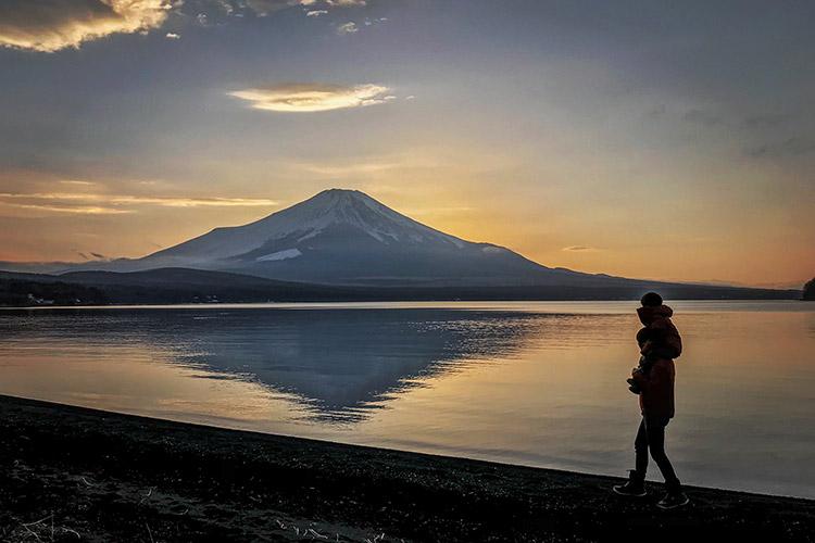 山中湖 レイクロッジヤマナカキャンプ場 富士山 叶大